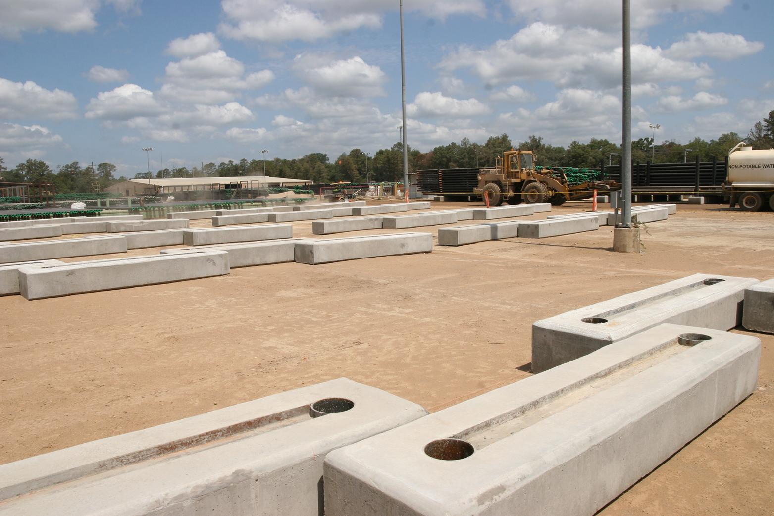 Concrete Pipe Rack Construction   Corestone Paving and Construction